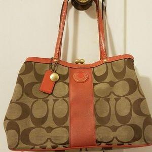 Coach coral handbag